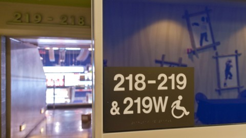 <h5>Signage (including braille) that denotes accessible seating</h5>