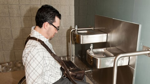 <h5>Accessible drinking fountain -- main concourse</h5>