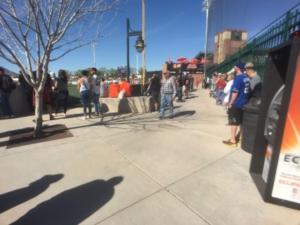 <h5>Scottsdale Stadium</h5><p> Walkway just past right field.  This will take you to the elevator that leads to the upper outfield section of the stadium.</p>