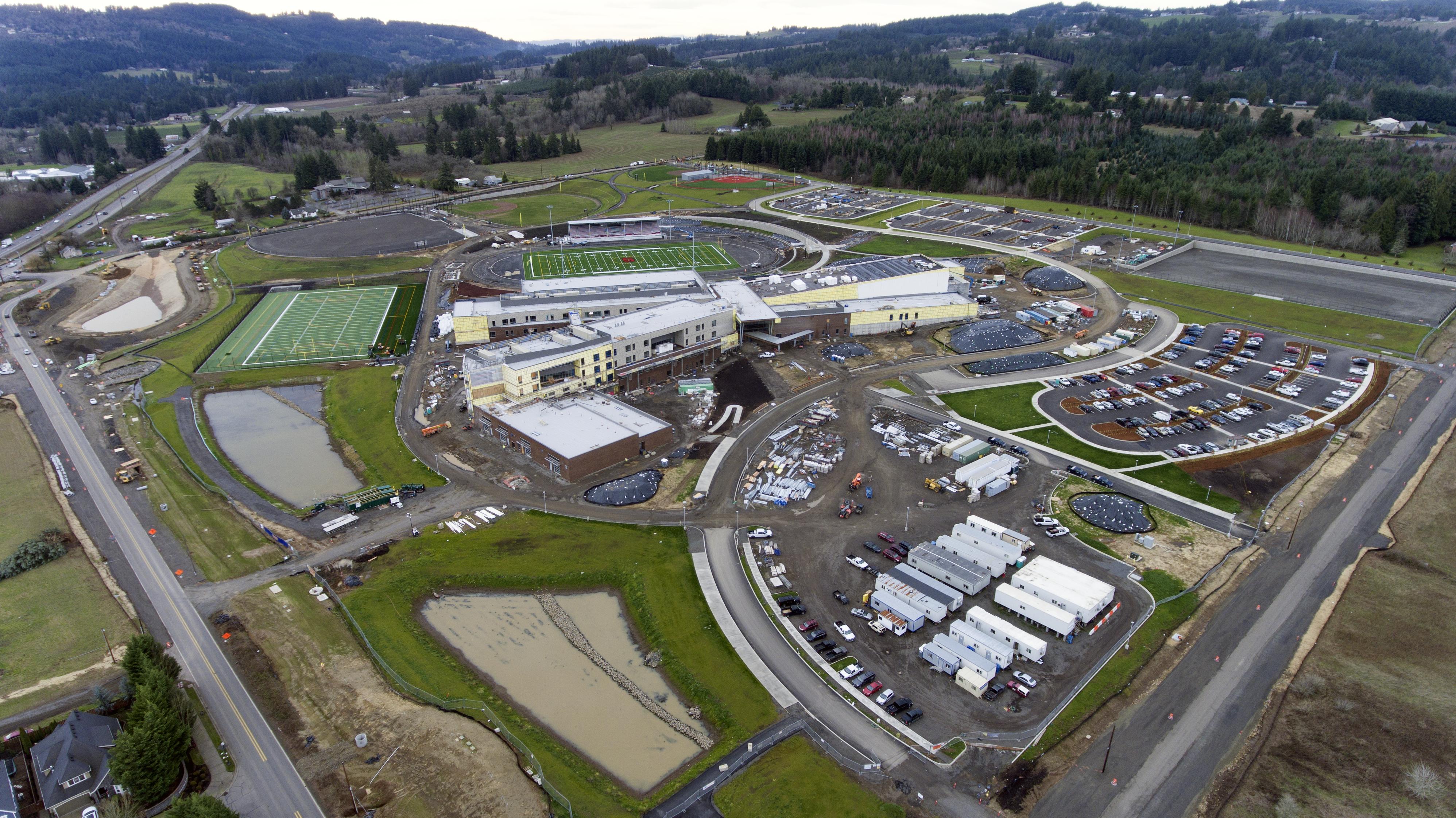 Aerial view of Sherwood High School Site
