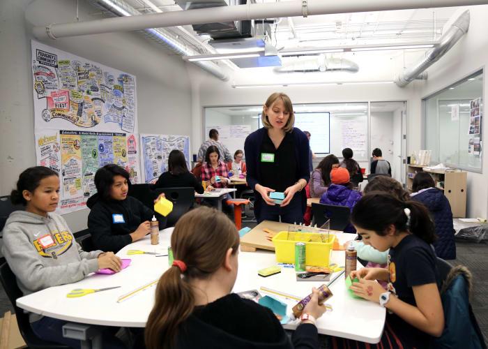 BRIC teamed up with GirlsBuild to host workshops
