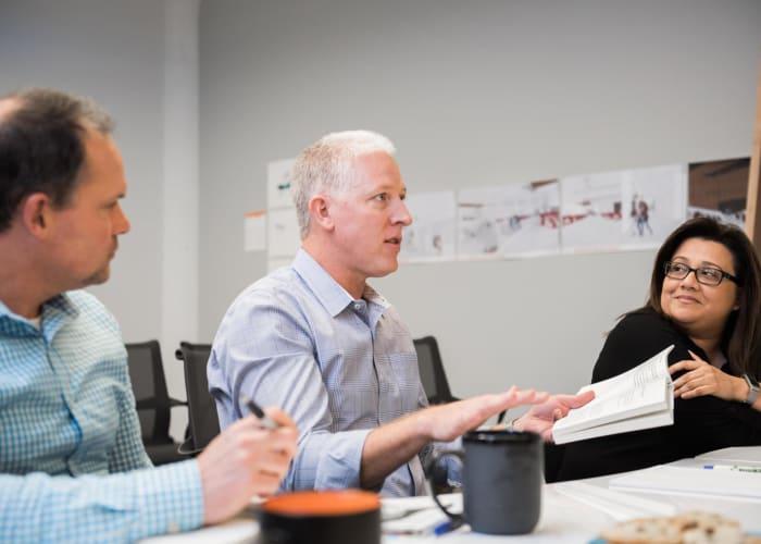 Sharing ideas at a BRIC meeting