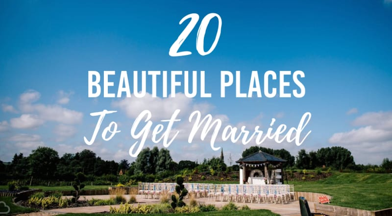20 beautiful places to get married