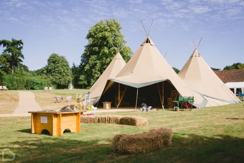 Stunning tipi wedding venue outside