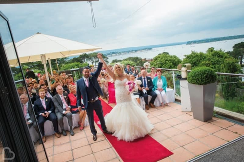 Harbour Heights Hotel outdoor wedding venue in Dorset