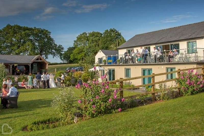 Manor Hill House outdoor wedding venue with balcony in Worcestershire