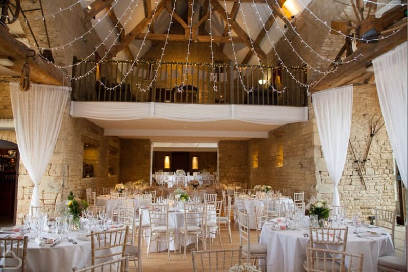The Great Tythe Barn, barn wedding venue in Gloucestershire