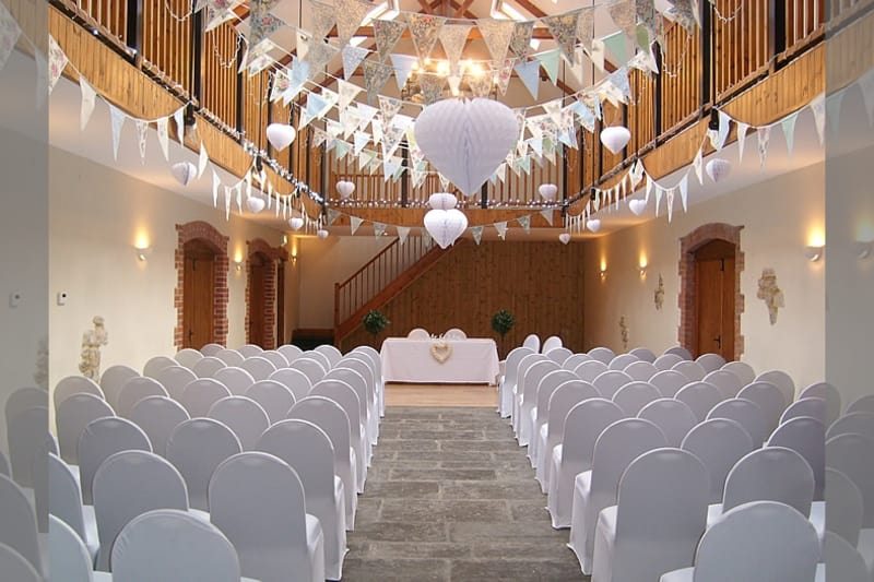 The Victorian Barn, Dorset a lovely room to get married in