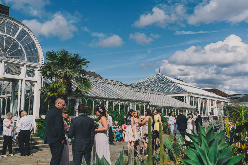 Birmingham Botanical Gardens wedding venue in the West Midlands