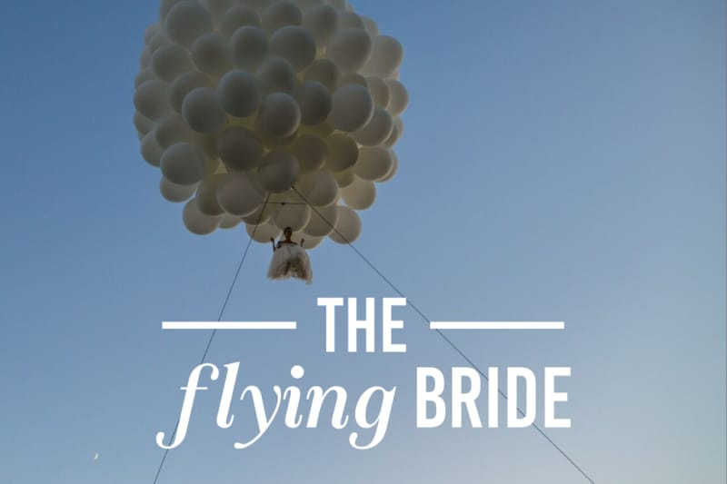 Bridebook.co.uk the flying bride