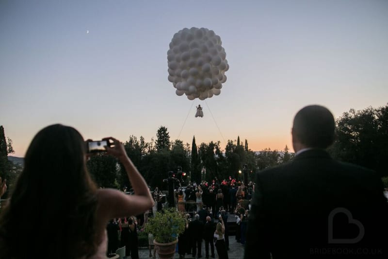 Bridebook.co.uk flying bride