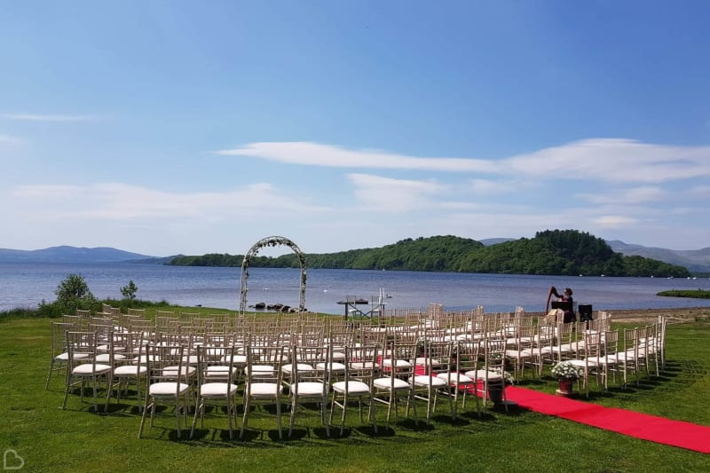 lonch lomond waterfront wedding venue