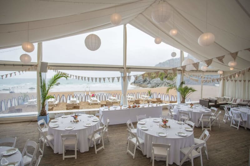 lusty glaze beach wedding venue