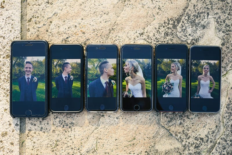 wedding photos on iphone effect