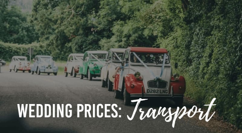 wedding transportation prices
