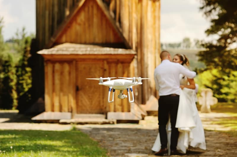 Drone Filming at Wedding