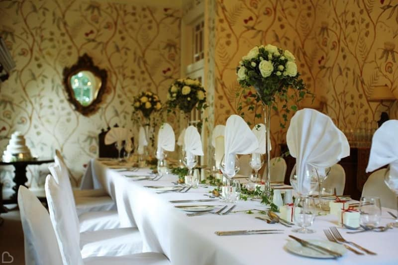 durn house decorated for a wedding a country house venue in the uk