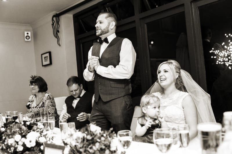 South West   Hampshire   Lymington   Winter   Traditional   Christmas   Maroon   Brown   Hotel   Real Wedding   Jennie Franklin #Bridebook #RealWedding #WeddingIdeas Bridebook.co.uk