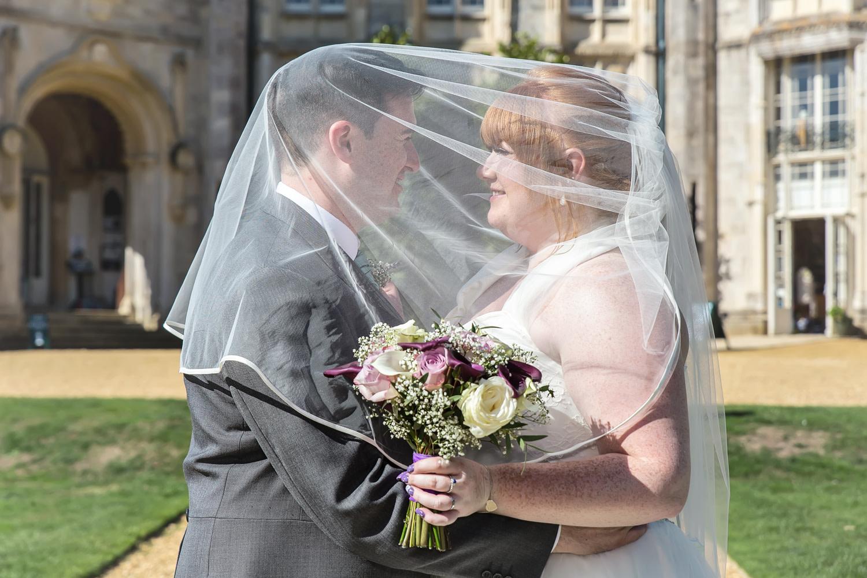 South West   Dorset   Bournemouth   Summer   Beach   Classic   Purple   Turquoise   Castle   Real Wedding   Jennie Franklin #Bridebook #RealWedding #WeddingIdeas Bridebook.co.uk