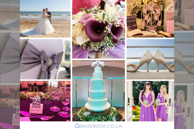 South West | Dorset | Bournemouth | Summer | Beach | Classic | Purple | Turquoise | Castle | Real Wedding | Jennie Franklin #Bridebook #RealWedding #WeddingIdeas Bridebook.co.uk