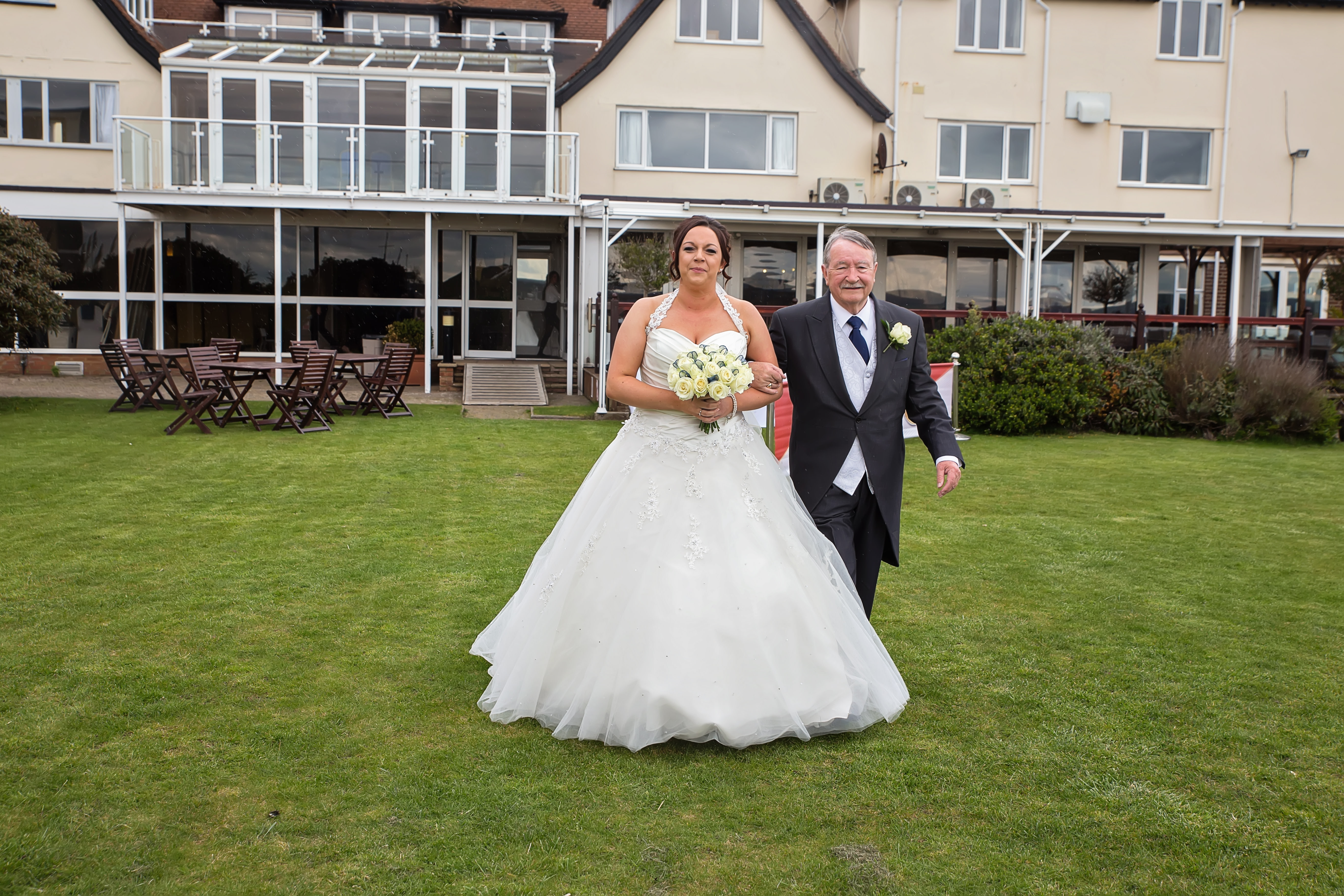 South West   Dorset   Poole   Spring   Coastal   Classic   Navy   White   Hotel   Real Wedding   Jennie Franklin #Bridebook #RealWedding #WeddingIdeas Bridebook.co.uk