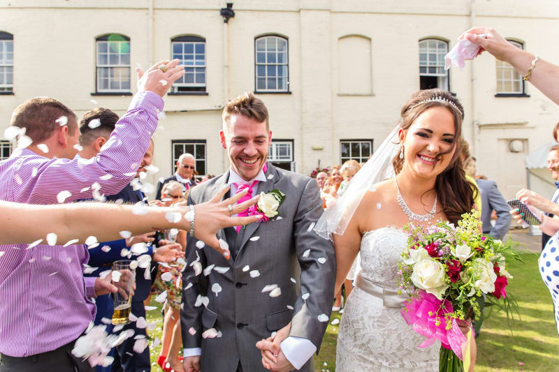 South West | Hampshire | Christchurch | Autumn | DIY | Classic | Marquee | Pink | White | Hotel | Real Wedding | Jennie Franklin #Bridebook #RealWedding #WeddingIdeas Bridebook.co.uk