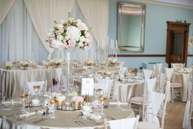West Midlands | Staffordshire | Summer | Glamorous | Helicopter | Pink | Gold | Country House | Real Wedding | Kayleigh Pope #Bridebook #RealWedding #WeddingIdeas Bridebook.co.uk