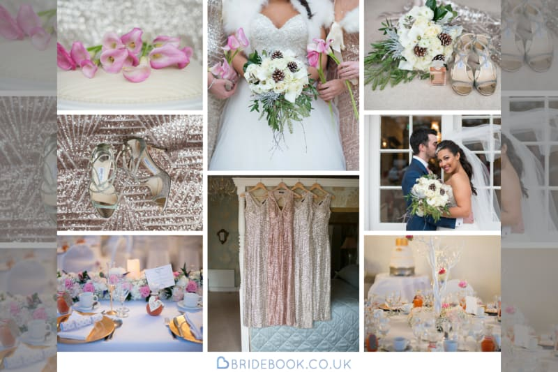 West Midlands | Warwickshire | Winter | Christmas | Pink | Gold | Country House | Real Wedding | Kayleigh Pope #Bridebook #RealWedding #WeddingIdeas Bridebook.co.uk