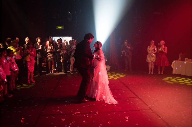 Bridebook.co.uk First dance theatre uplit