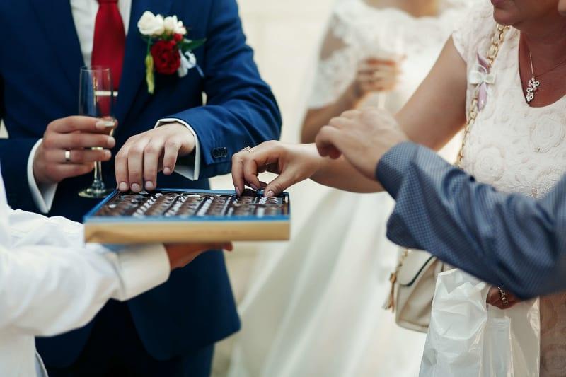 Bridebook.co.uk Guests Sharing Food