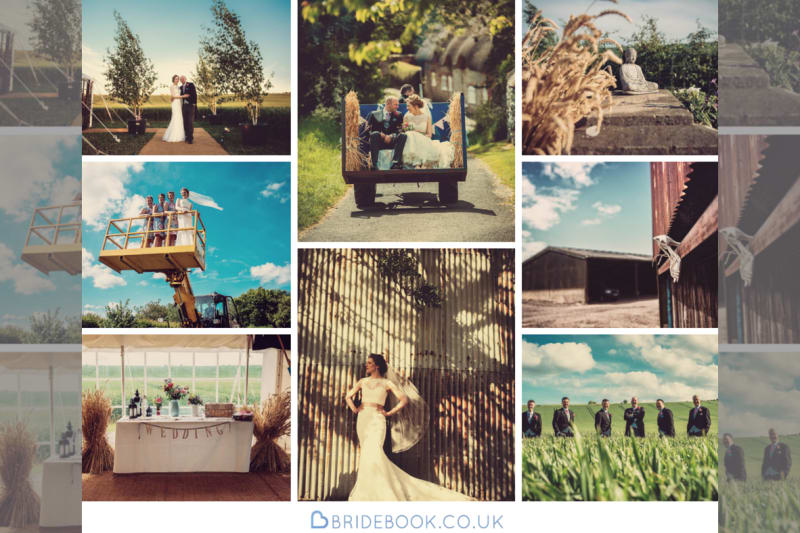 Outdoor | Farm | Barn | Rustic | Barn | Marquee | Tractor | Summer | Marlborough | Peter Smart #Bridebook #RealWedding #WeddingIdeas Bridebook.co.uk