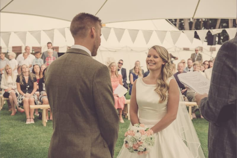 Country | Dorset | Forest | Marquee | Lake | Pink | Sopley Farm | Peter Smart #Bridebook #RealWedding #WeddingIdeas #SopleyFarm Bridebook.co.uk