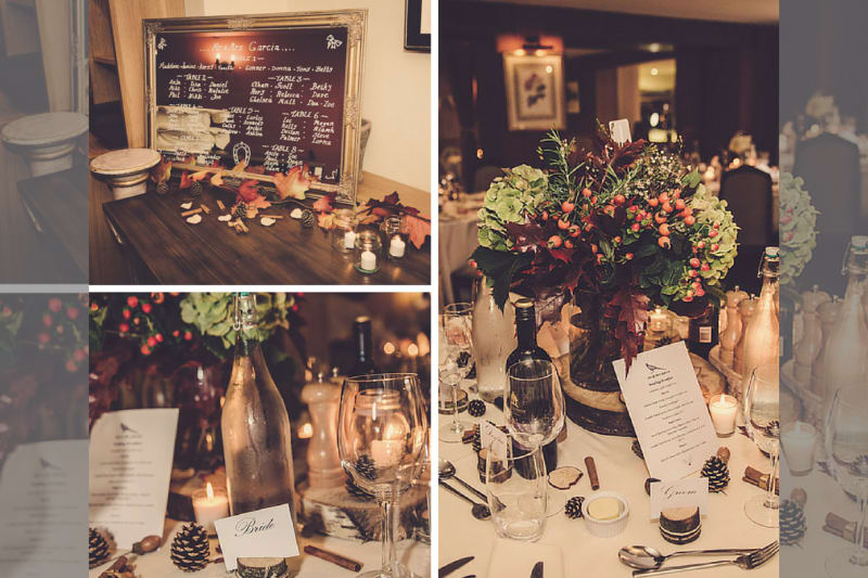 Rustic | Outdoor | Country | Autumn | Orange | Oxfordshire | Mill House Hotel | Peter Smart #Bridebook #RealWedding #WeddingIdeas #MillHouseHotel Bridebook.co.uk