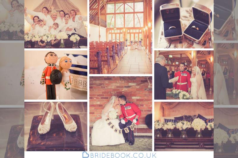 South West | Hampshire | Yatley | Winter | Classic | Traditional | Military | Blue | Gold | Barn | Real Wedding | Sarah Elvin #Bridebook #RealWedding #WeddingIdeas Bridebook.co.uk