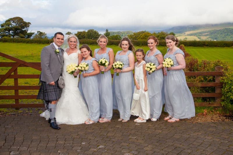 Scotland | Renfrewshire | Bishopton | Autumn | Classic | Modern | Blue | Cream | Country Club | Real Wedding | Sheila Galvin #Bridebook #RealWedding #WeddingIdeas Bridebook.co.uk