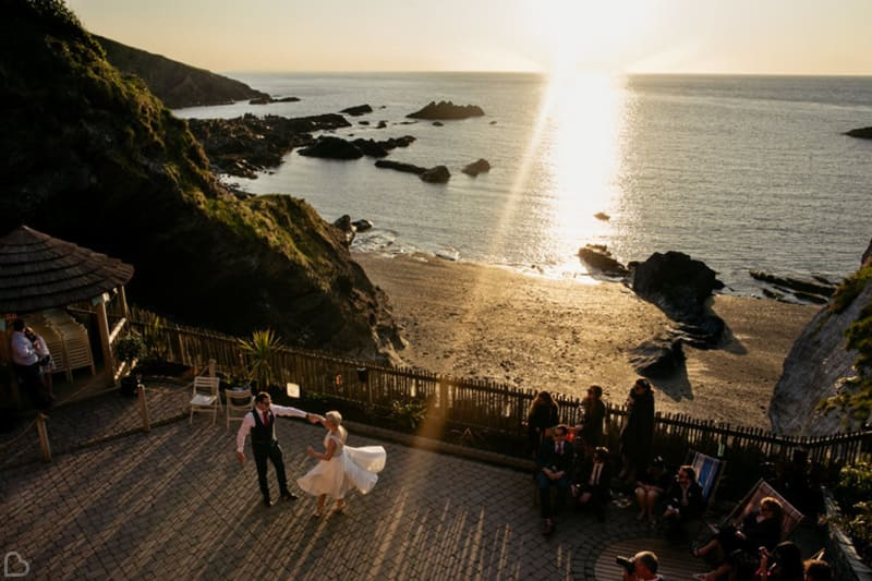 tunnels beaches a beach wedding in devon