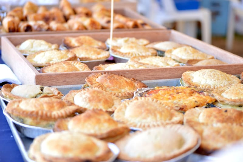 Pie station offering delicious pies at wedding