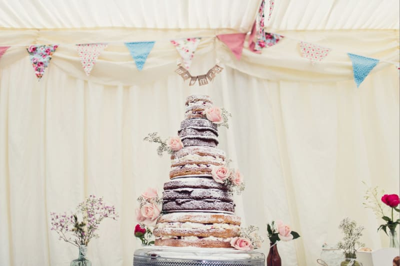 Bridebook.co.uk- sugared naked cake decorated with roses