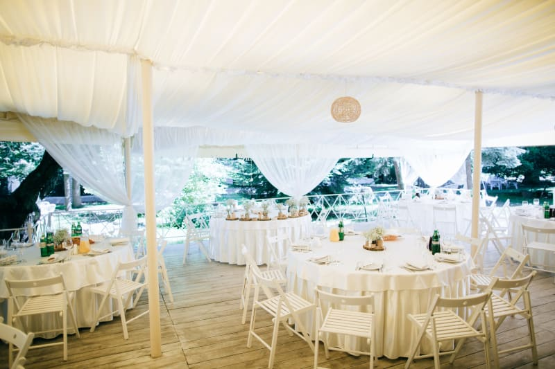 13 questions to ask your marquee company wedding advice bridebook bridebook marquee summer wedding white drapes junglespirit Image collections