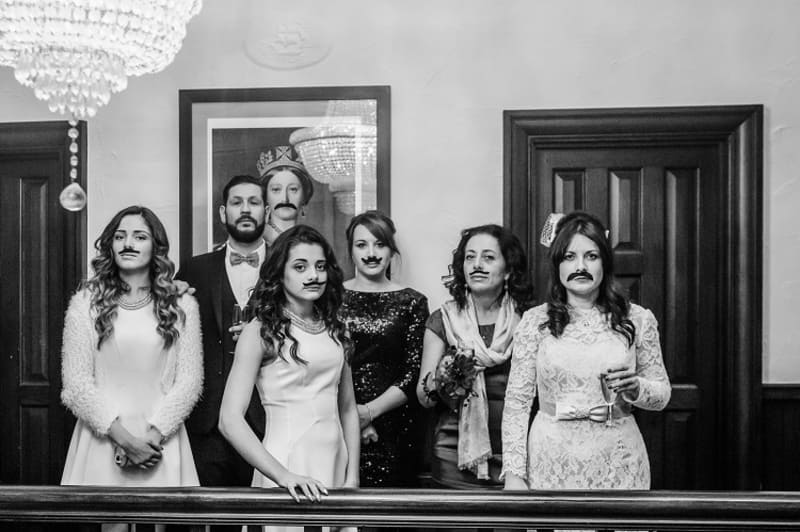 bridebook.co.uk family with mustache