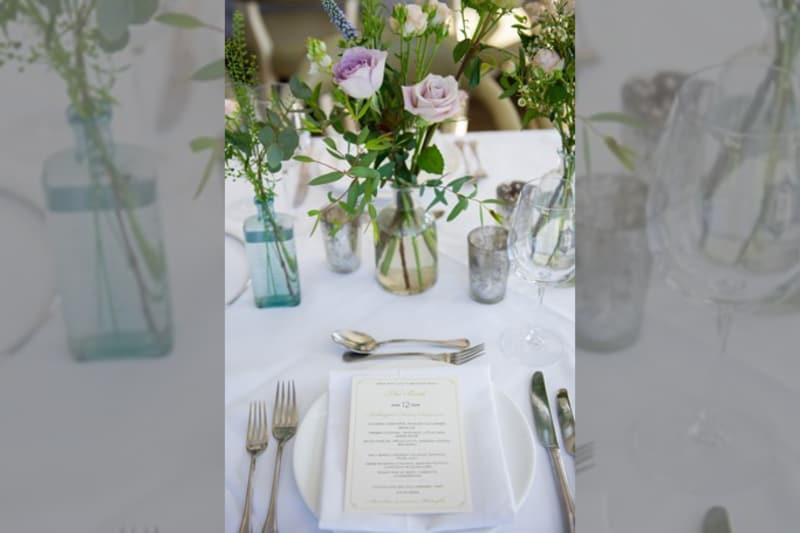 Bridebook.co.uk- menu placed on a plate