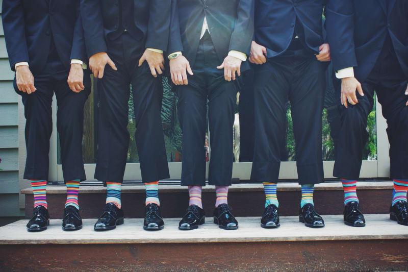 Bridebook.co.uk groom, best men and ushers showing socks