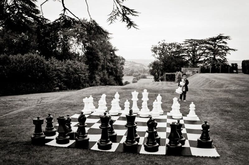 Bridebook.co.uk- chess board at a wedding