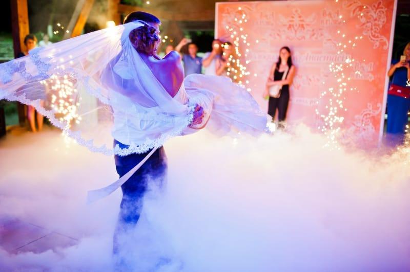 Bridebook.co.uk First Dance Spin on Smoky Dancefloor