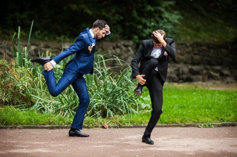 Bridebook.co.uk Guests dancing outside