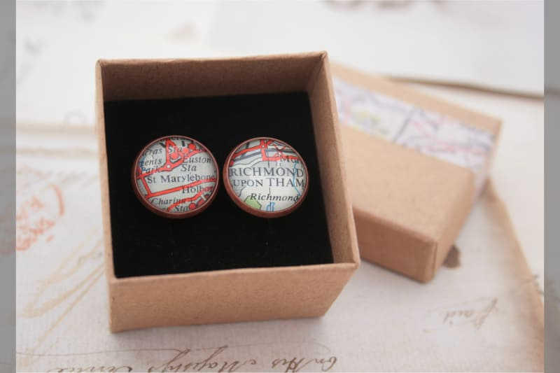 Bridebook.co.uk personalised cufflinks
