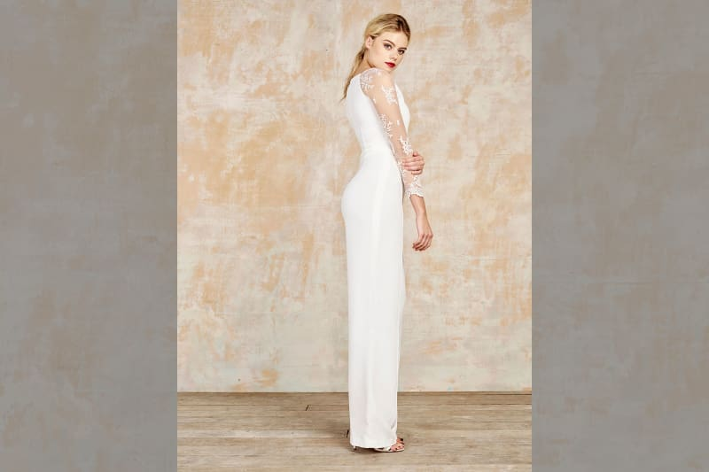 bridebook.co.uk house of ollichon white jumpsuit
