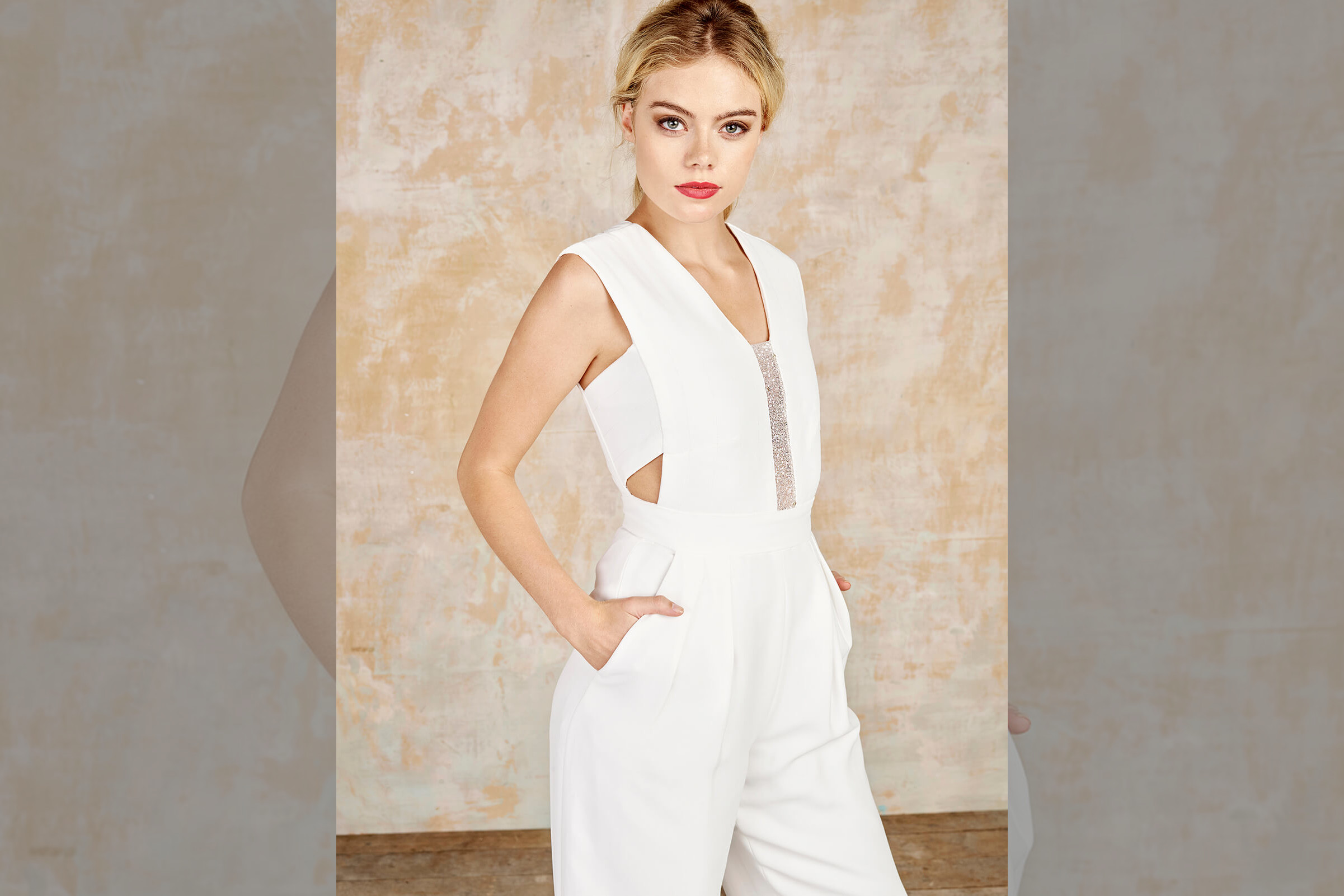 bridebook.co.uk-house-of-ollichon white jumpsuit on model