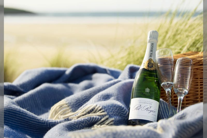 bridebook.co.uk-pol-roger-on-engagement-champagne-on-beach