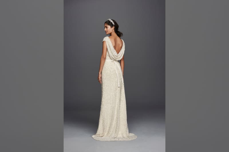 bridebook.co.uk jenny packham for david's bridal sequin dress